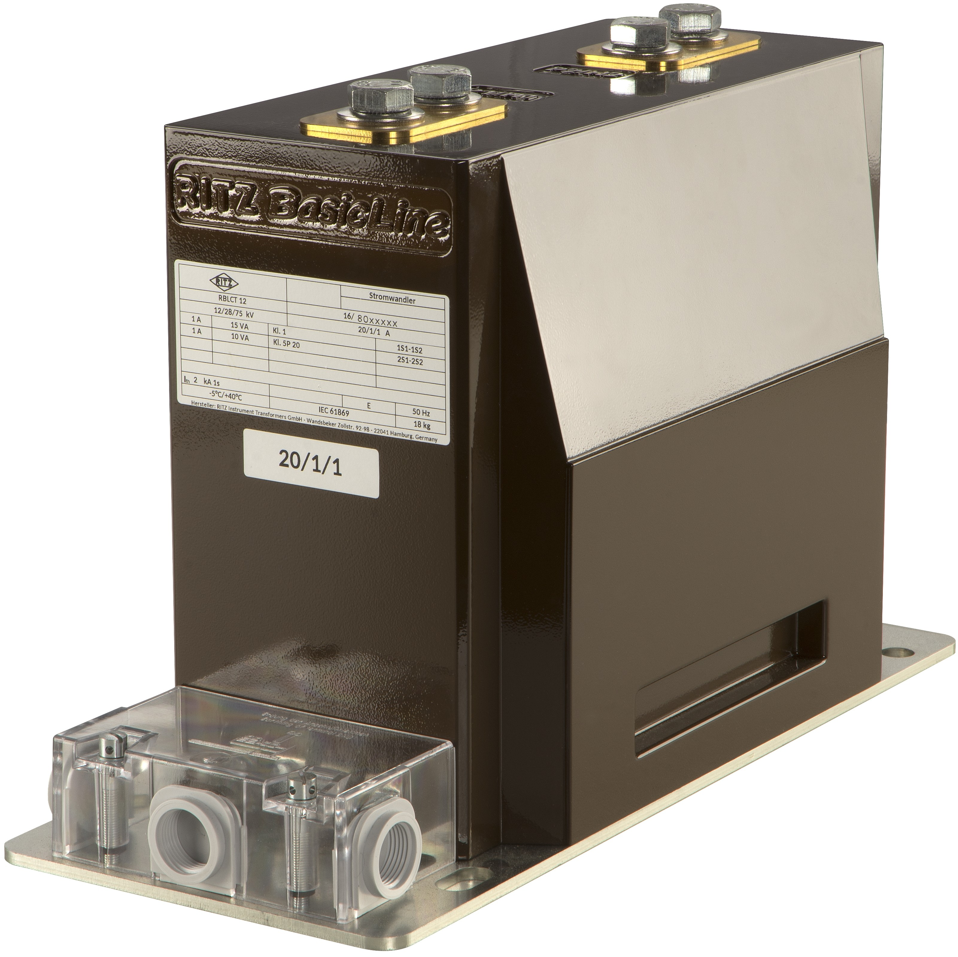 RBLCT12 | 17,5 | 24  BasicLine Indoor Current Transformer Support CT, Block-Type CT, narrow design